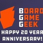 Image for the Tweet beginning: Happy 20th Anniversary BGG! Jan