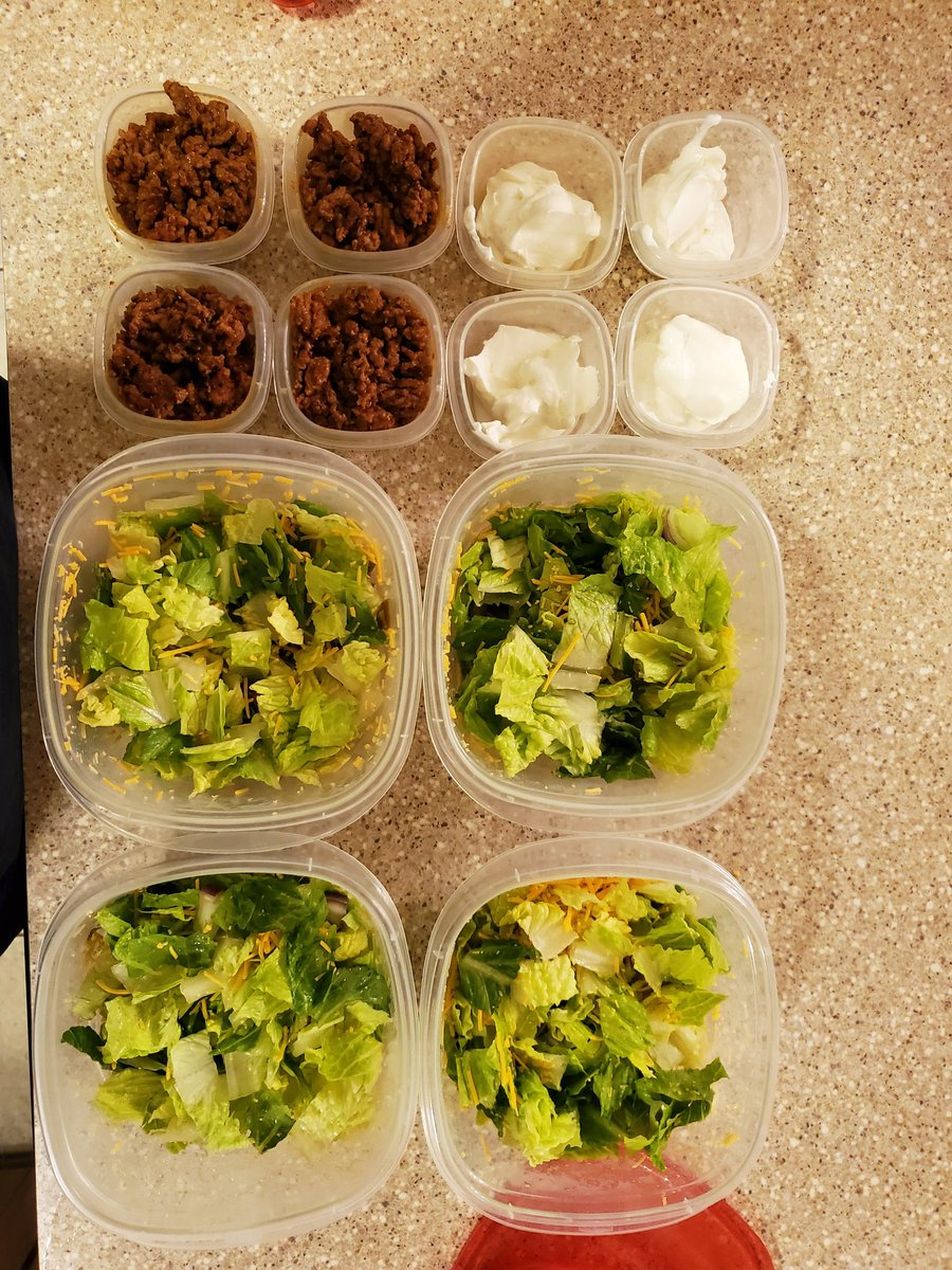 Taco salad meal prep for the week #keto #ketodiet #weightloss #weightlossjourney #fitness #FitnessGoals #fitnessjourney #fitnessmotivation #lowcarb #LCHF #mealprep<br>http://pic.twitter.com/5wPnOFSyZB