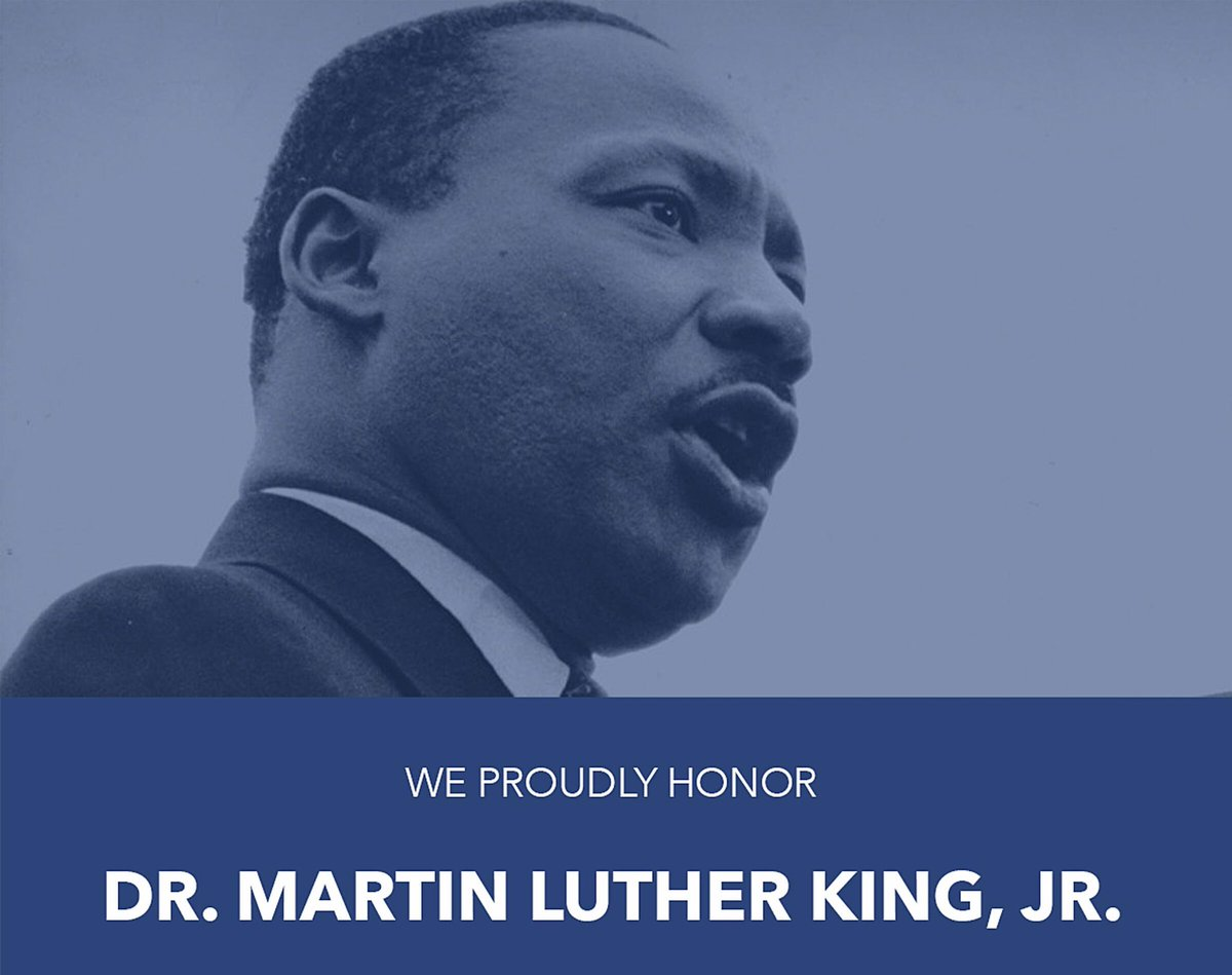 """We remember the life & legacy of Dr. Martin Luther King, Jr. In his sermon, the Drum Major Instinct, his message was simple: All of us can be great because all of us can serve: youtu.be/tBiFnDuCJIU May we never forget: """"Whatever affects one directly, affects all indirectly."""""""