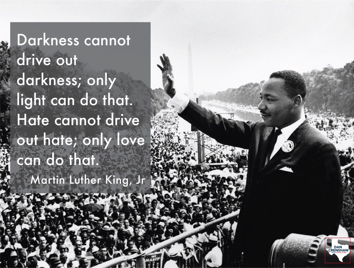 Today we honor the life & legacy of Dr. Martin Luther King, Jr. In the face of evil, he believed America could live up to its own promise of equality.  We're forever grateful for his tireless, momentous work to make America better. May his legacy live on forever. #MLKday <br>http://pic.twitter.com/HWPaZlggEg