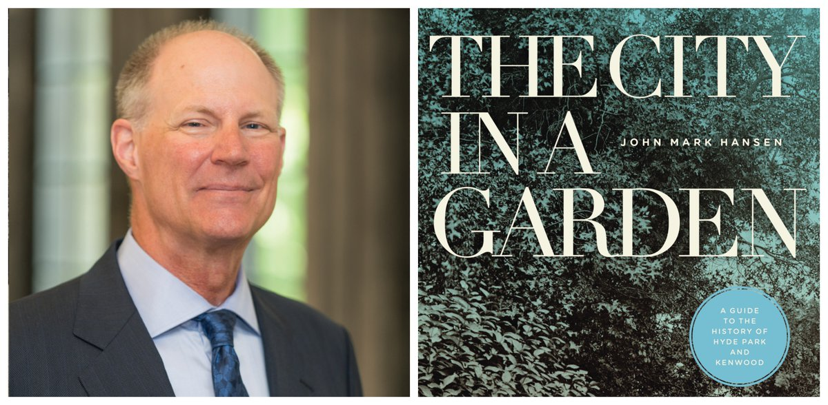 Tonight at 6pm at the Co-op in partnership with @UChicagoPGE,  Professor John Mark Hansen and Dean John W. Boyer will discuss Hansen's THE CITY IN A GARDEN, a flowering, branching history of Kenwood and our very own Hyde Park. Find details and RSVP here: https://www.facebook.com/events/567282877169663/ …pic.twitter.com/GNa994WcCG