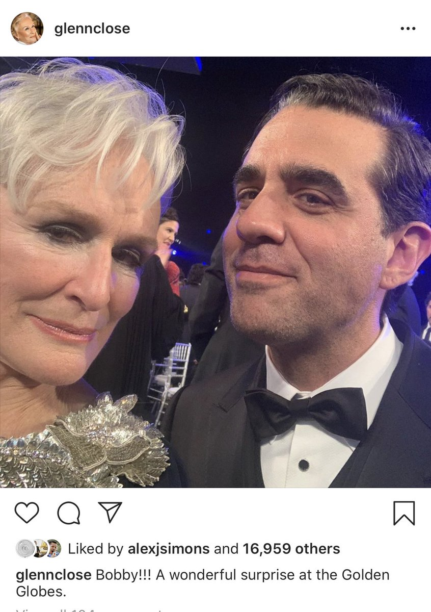 Glenn Close being at the #SAGAwards but thinking it's the #GoldenGlobes is such a flex