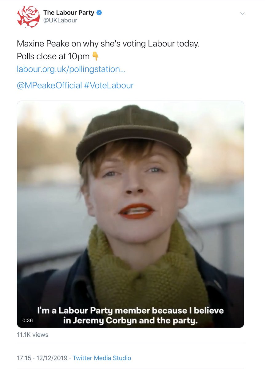 """Just a reminder...  Going into #GE2019: > 87% of British Jews believed Corbyn was an antisemite > 47% said they'd """"seriously consider"""" emigrating if he became PM > The EHRC were investigating Labour for institutional anti-Jewish racism  Maxine Peake:  <br>http://pic.twitter.com/PIlCtLxvL0"""