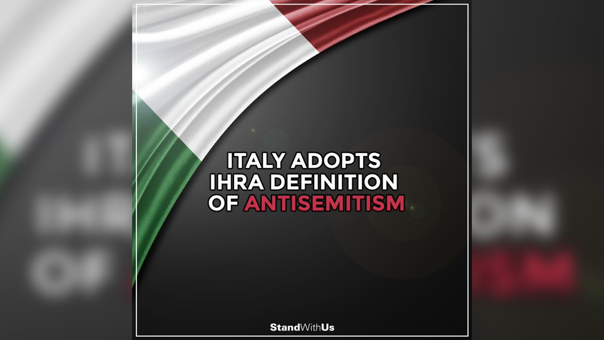 The Italian government decided to adopt the International Holocaust Remembrance Alliance (IHRA) definition of antisemitism. ​ ​Thank you Italy  <br>http://pic.twitter.com/rGBsWgwD4d