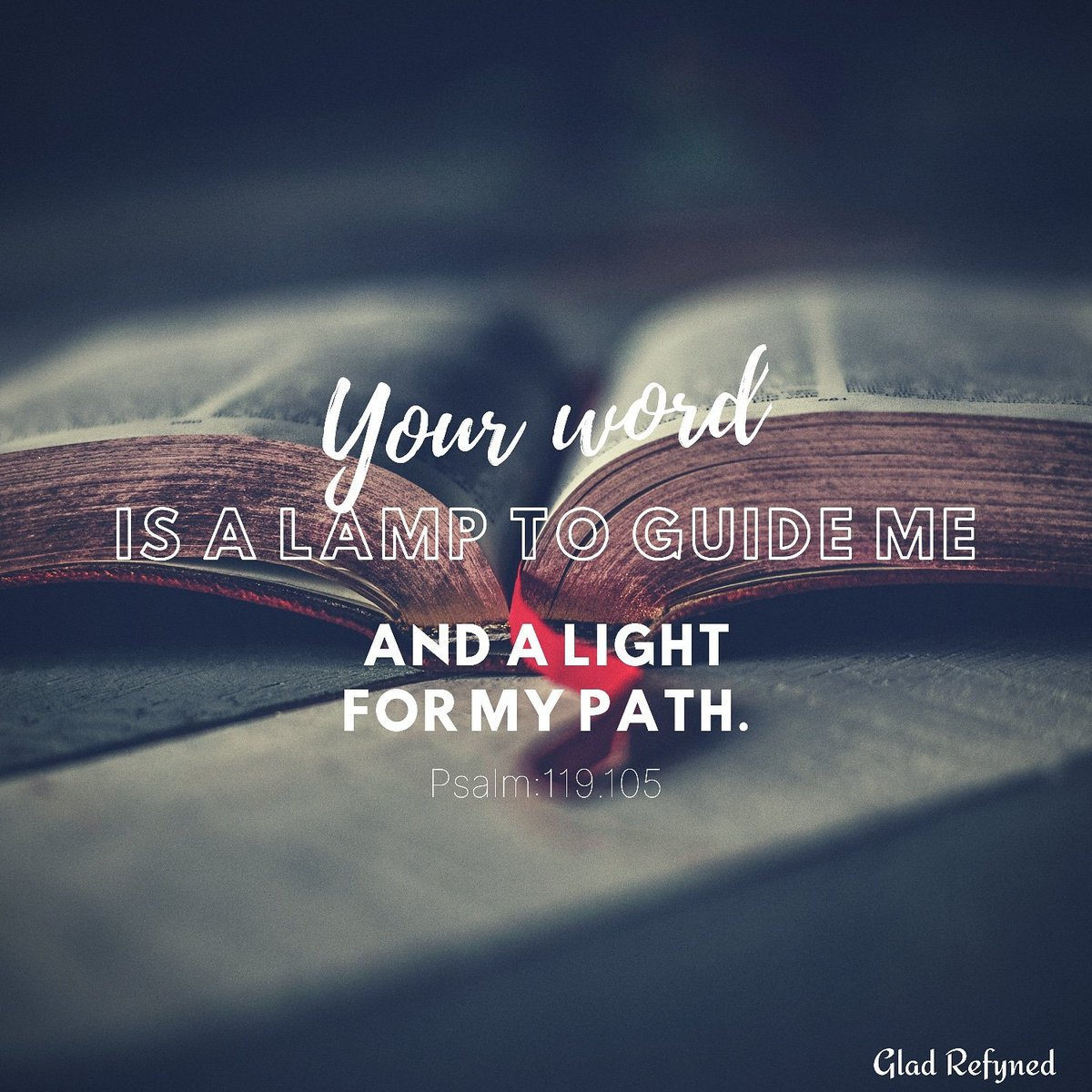 Psalm:119.105  Your word is a lamp to guide me and a light for my path.  #word #lamp #light #path #bibleverse #lifequotesandsayings #gladrefyned<br>http://pic.twitter.com/qa5tYFu98E