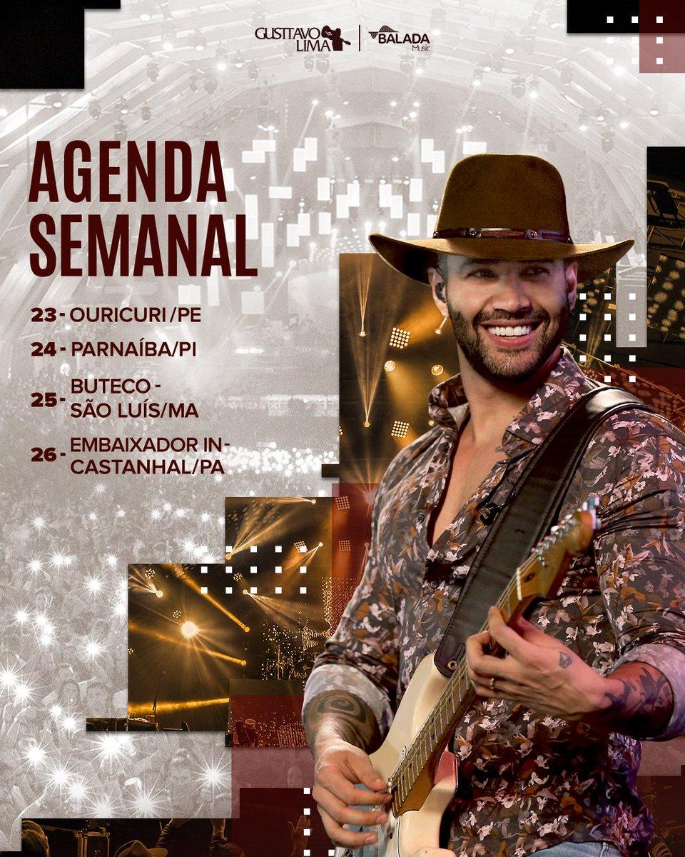 A agenda do embaixador está animada! E aí, qual o destino de vocês? #Agenda #BaladaMusic #GusttavoLima