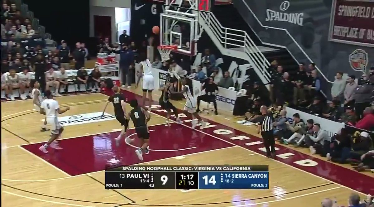 This sequence from Sierra Canyon had Bron hyped