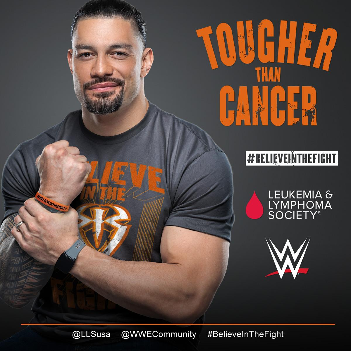 🗣 #BelieveInTheFight with the @WWERomanReigns #TougherThanCancer collection! Available at #WWEShop. #WWE