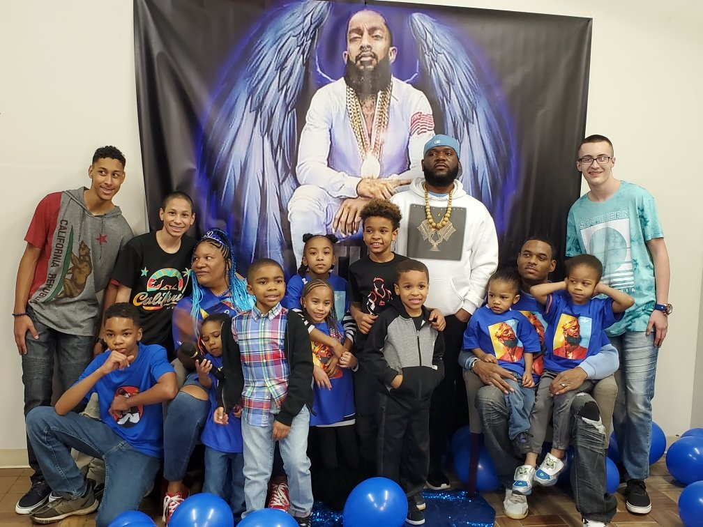My 50th NIPSEY inspired bday party @LaurenLondon <br>http://pic.twitter.com/kl2Rk2Q9Z1