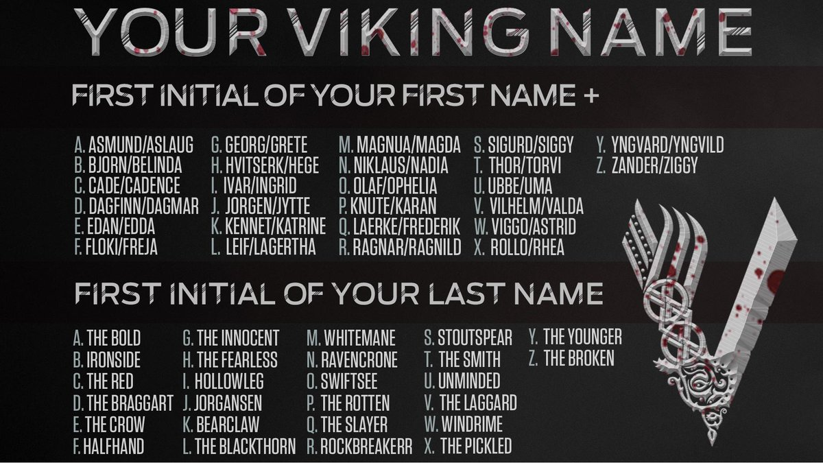 What's your Viking name? https://t.co/nRKiPh9cHW