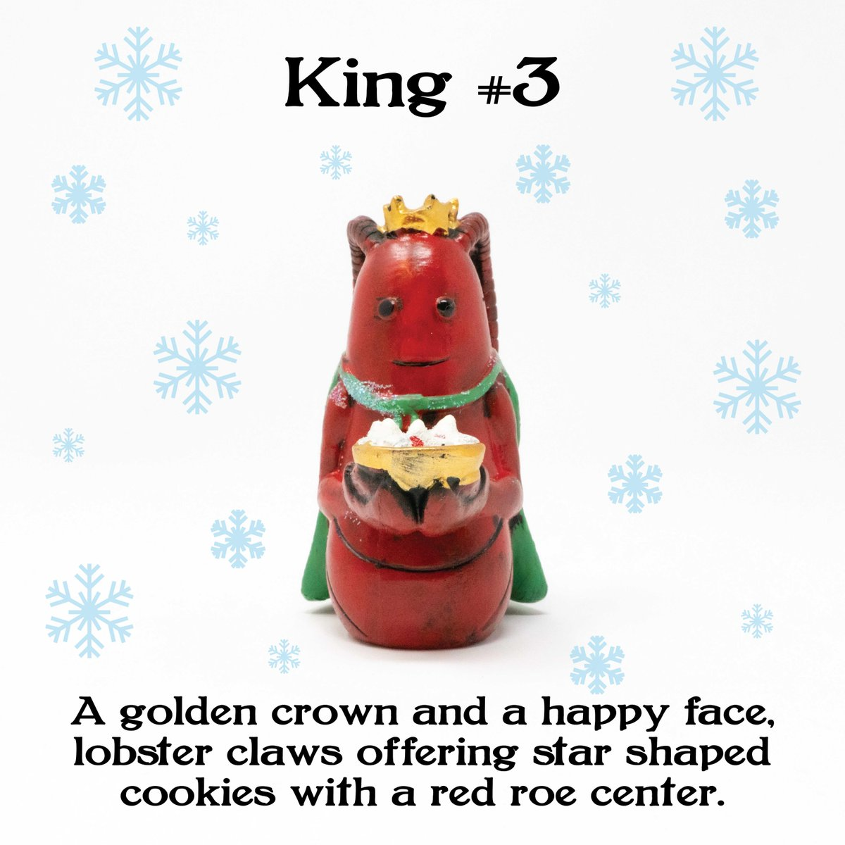 Who doesn't love cookies? The 3rd King brings star shaped sweets in celebration of Jesus's birth  . . . . #christmastime #lobsternativityscene #crustacean #figurinespic.twitter.com/9oc2Szd68l