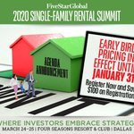SNEAK PEEK: Review the agenda and get excited about the 2020 Single-Family Rental Summit—Where Investors Embrace Strategy. https://t.co/c0rxVhVQzy