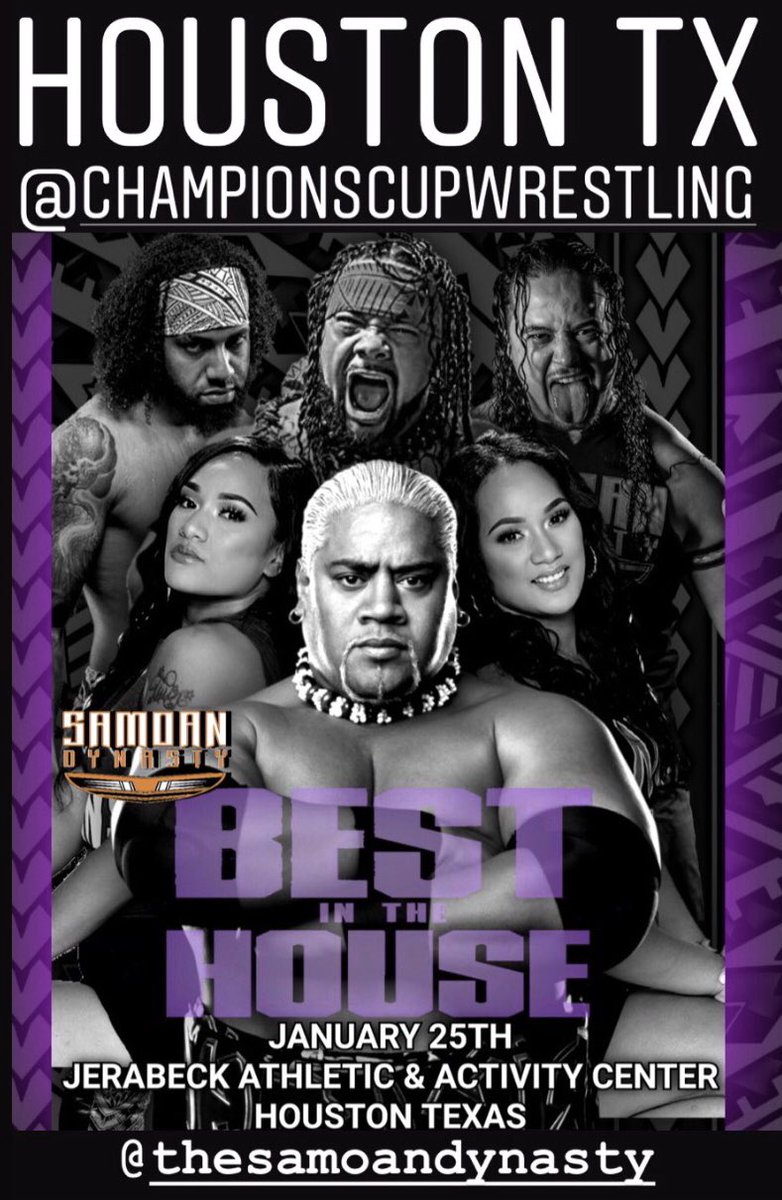 Next stop  SAT JAN 26  🚨🚨HOUSTON TEXAS I bring youngsters  @SamoanDynasty1  to @championscup17 info below  @SAMOANWEREWOLF  @MKTwins_Steff  @MKTwins_Ashley  @lanceanoai  @seanmaluta