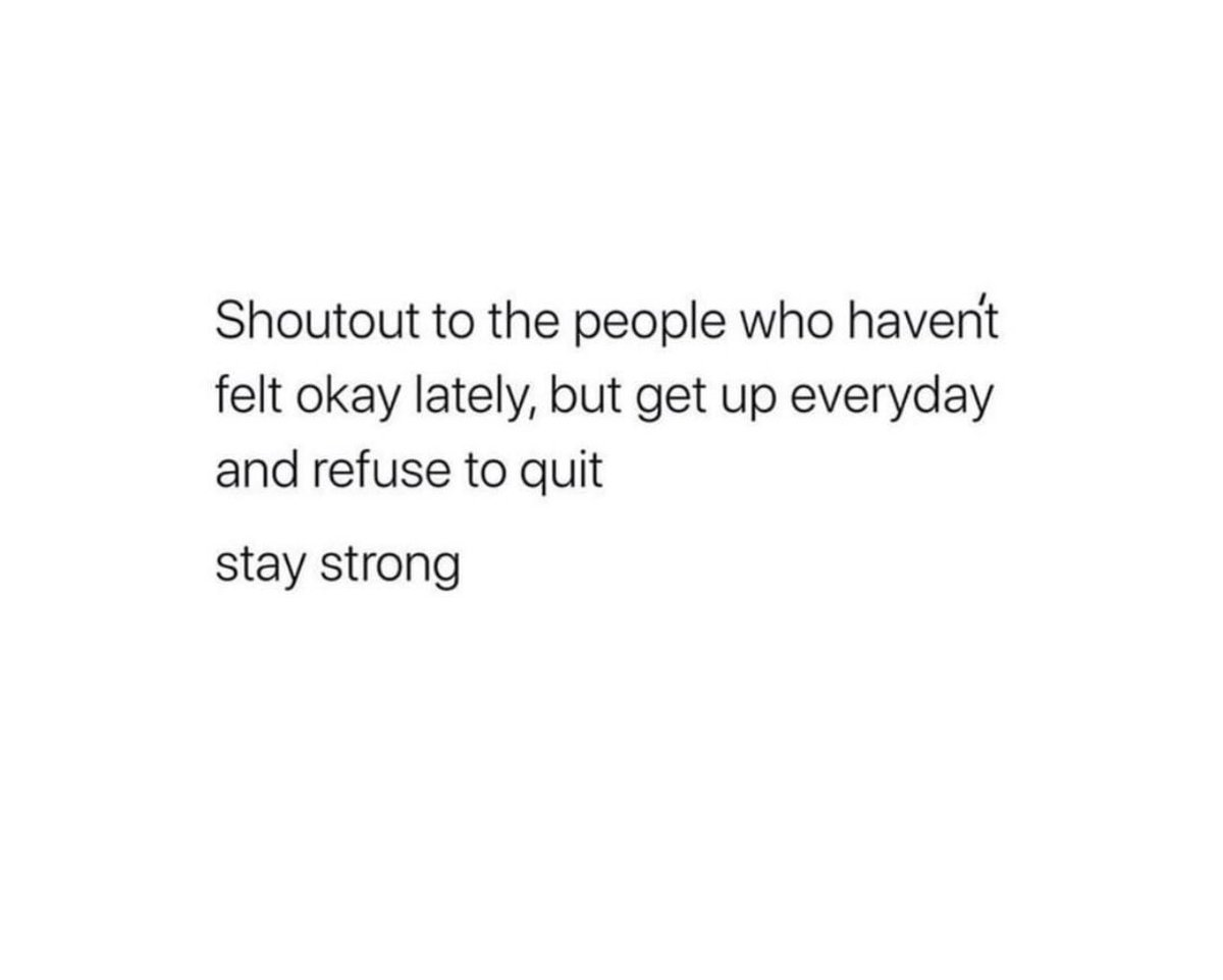 i'm proud of you, keep going.