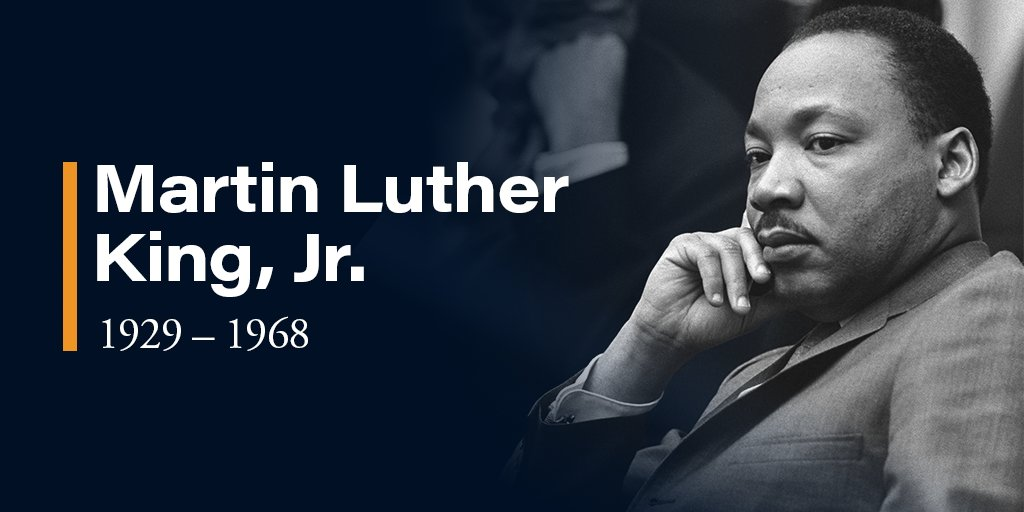 """There comes a time when one must take a position that is neither safe, nor politic, nor popular, but he must take it because conscience tells him it is right."" Honoring Dr. Martin Luther King, Jr. and his life today. #MLKDay"