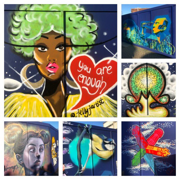 Being a massive fan of #StreetArt I had to get myself down to #ForestHill to see the wonderful hoardings irl & certainly wasn't disappointed! So colourful & vibrant brightening up that corner of #SE23 Well done all 15 artists #LoveOurArea #CheckOutpic.twitter.com/c6K2jTRqNI