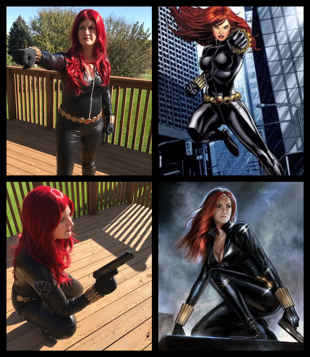 Cosplay vs. character My poses weren't quite right, but you get the idea. #BlackWidow <br>http://pic.twitter.com/3gLOM96XPs