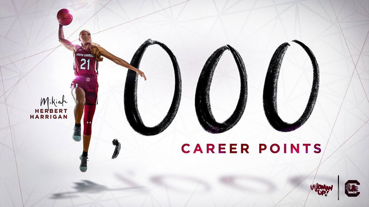 Traditional 3-point play and @2121Mikiah hits 1K 👏👏👏👏 #SCWomanUp
