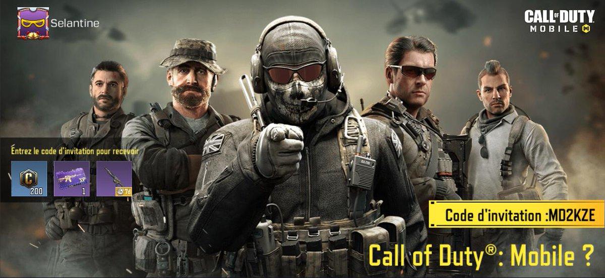 Voici mon code invitation pour Call Of Duty Mobile : MD2KZE  Si tu commences le jeu, n'hésite pas à l'utiliser !  #cod #codfr #codmfr #codm #codmobile #callof #Callofdutymobile #callofduty #code #invitation #progamer #gaming #rogphone2 #selantinepic.twitter.com/lO2YpbBvwv