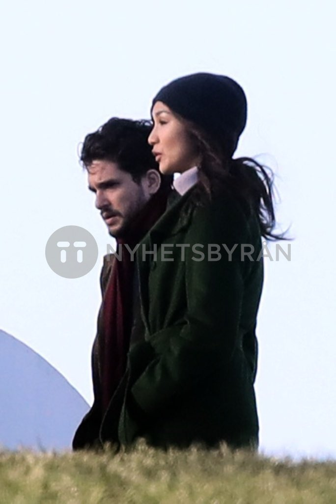 NEW/OLD📸 Kit Harington and Gemma Chan on set of #TheEternals in London | January 2020