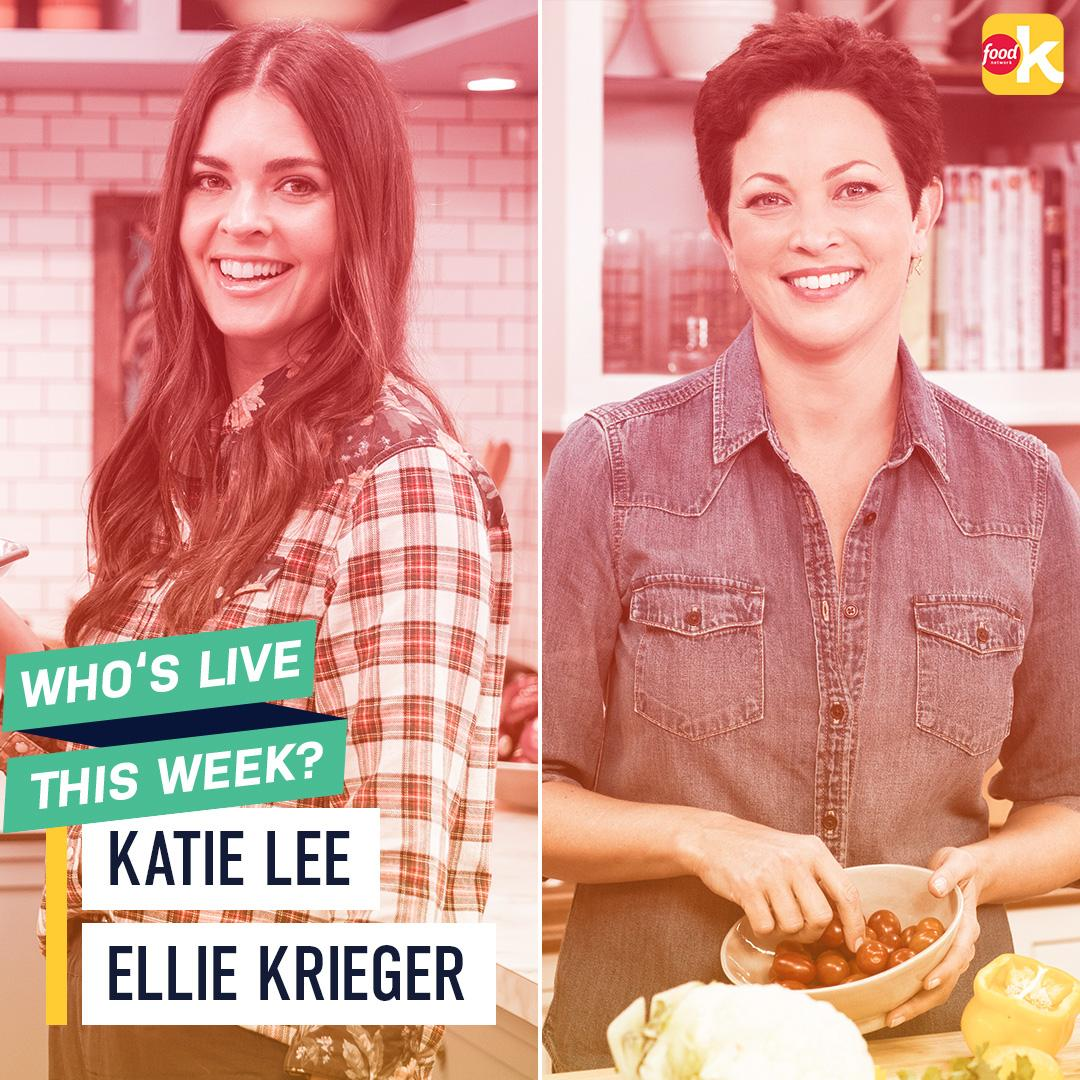 FoodNetwork: .KatieLeeKitchen and Ellie_Krieger are going LIVE tomorrow! Don't miss Katie at 10a|9c, 12|11c and 5|4c, and Ellie at 7|6c! Download the #FoodNetworkKitchen app and get ready to ask Katie and Ellie all of your culinary questions! … <br>http://pic.twitter.com/368AtFQ1X2