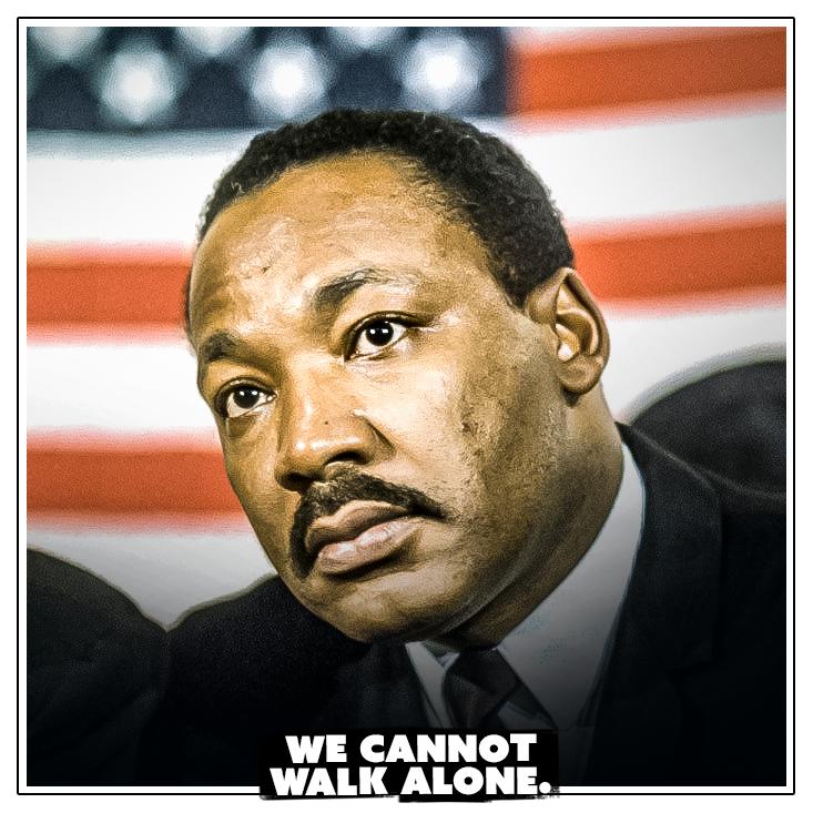 𝘈𝘯𝘥 𝘢𝘴 𝘸𝘦 𝘸𝘢𝘭𝘬, 𝘸𝘦 𝘮𝘶𝘴𝘵 𝘮𝘢𝘬𝘦 𝘵𝘩𝘦 𝘱𝘭𝘦𝘥𝘨𝘦 𝘵𝘩𝘢𝘵 𝘸𝘦 𝘴𝘩𝘢𝘭𝘭 𝘢𝘭𝘸𝘢𝘺𝘴 𝘮𝘢𝘳𝘤𝘩 𝘢𝘩𝘦𝘢𝘥. 𝘞𝘦 𝘤𝘢𝘯𝘯𝘰𝘵 𝘵𝘶𝘳𝘯 𝘣𝘢𝘤𝘬. #MLKDAY