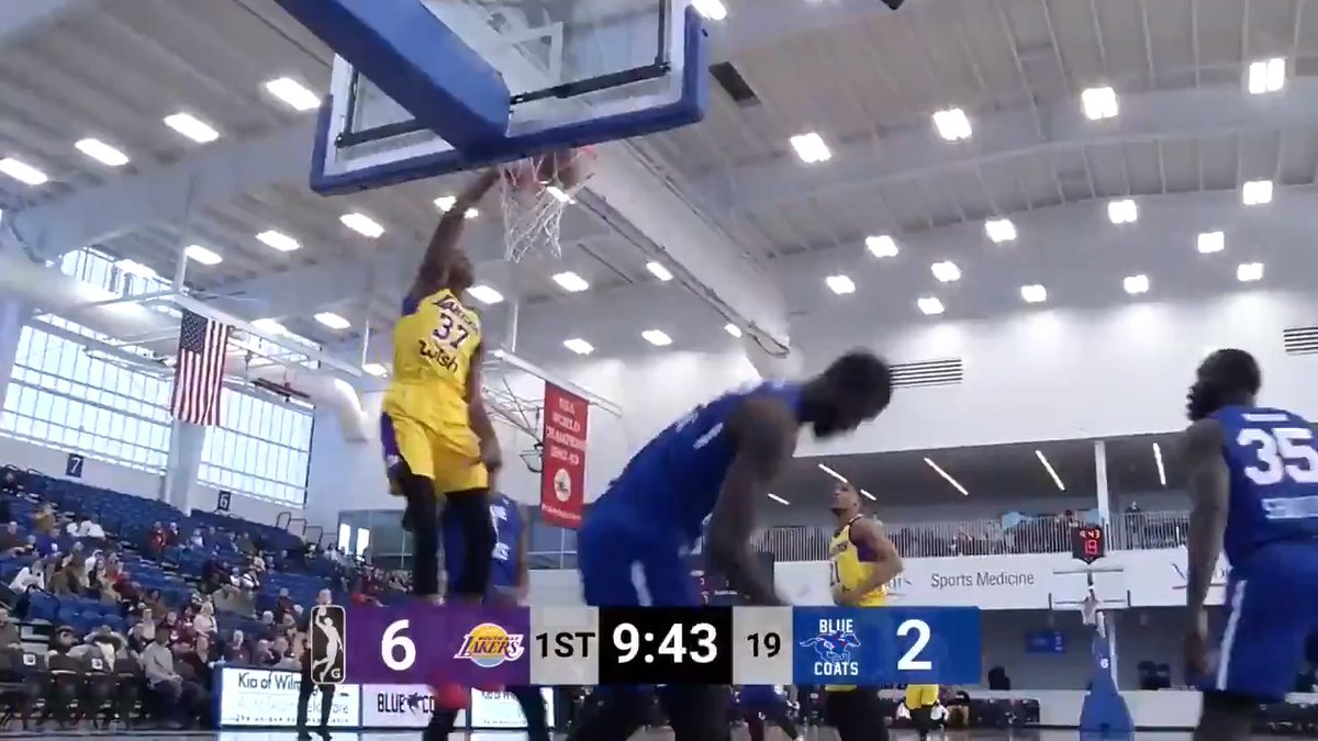 .@Kostas_ante13 took over on Monday afternoon 👀  21 PTS | 13 REB | 2 BLK | #2WayPlayer  @SouthBayLakers ↔️ @Lakers