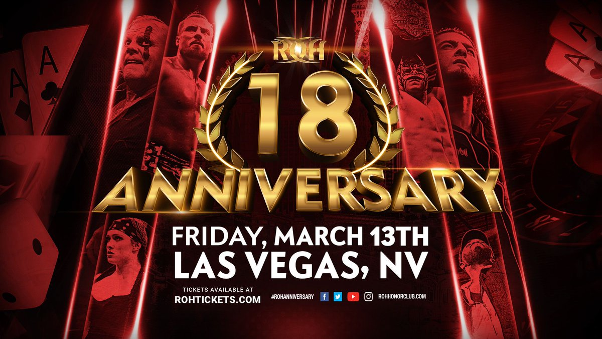 """Ring Of Honor Announces 18th Anniversary PPV And """"Past Vs. Present"""" Event"""