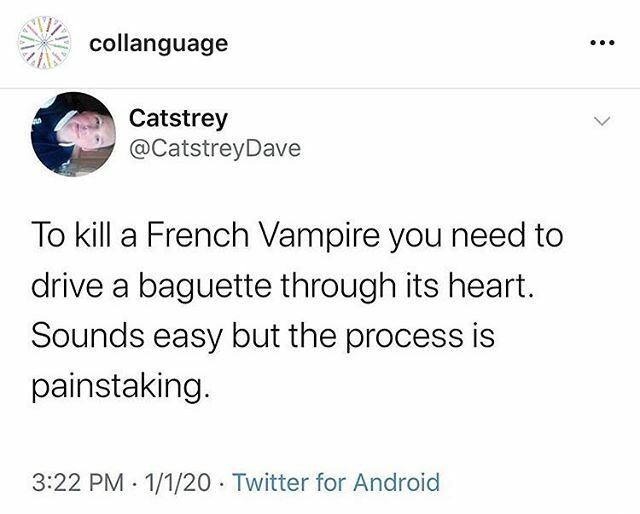 #literally (for bilinguals) . . #puns #bilingualpun #bilingual #pain #vampire #bread #punsfordays #polyglothumor https://ift.tt/2sN9Ttu pic.twitter.com/P2bDatijzg