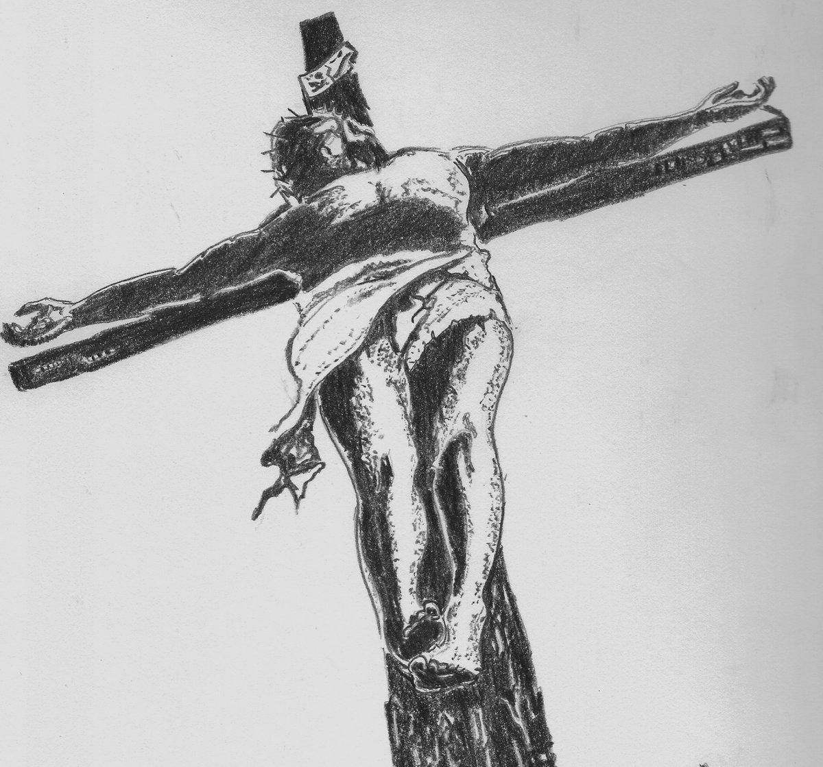 после рисунки распятие христа карандашом сомневайтесь, юбители