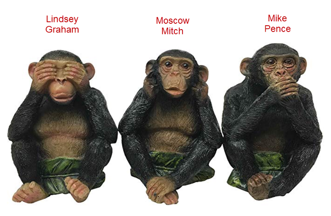 #LindseyGraham said he will not look at any evidence  #MoscowMitch will do what #PutinsBitch says #PenceKnew #NunesKnew & #DevinNunesGotCaughtAgain  #MulvaneyKnew #BarrKnew #Parnas has receipts, now FBI has them #Impeachment #PutinsGOP #IMPOTUS #ImpeachedForever #Impeached