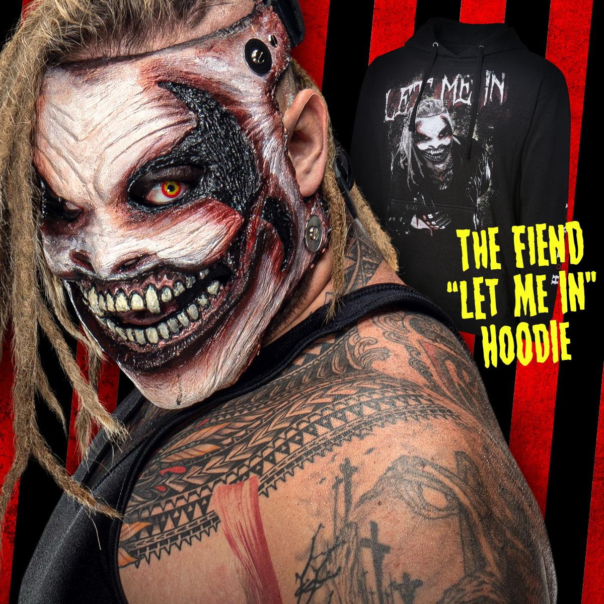 #LetMeIn! #TheFiend hoodie available now at . #WWE #WWEShop #BrayWyatt