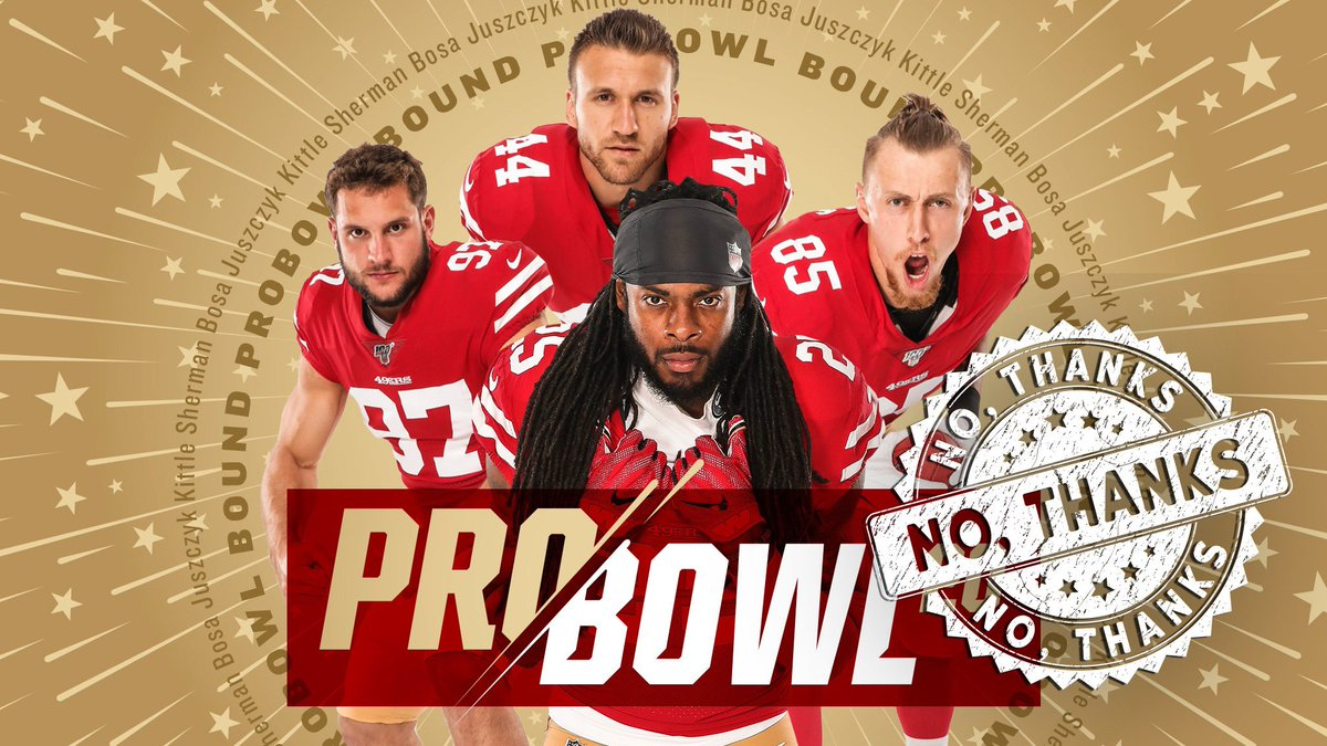 JUST ANNOUNCED: Zero #49ers will be in attendance at this year's Pro Bowl.