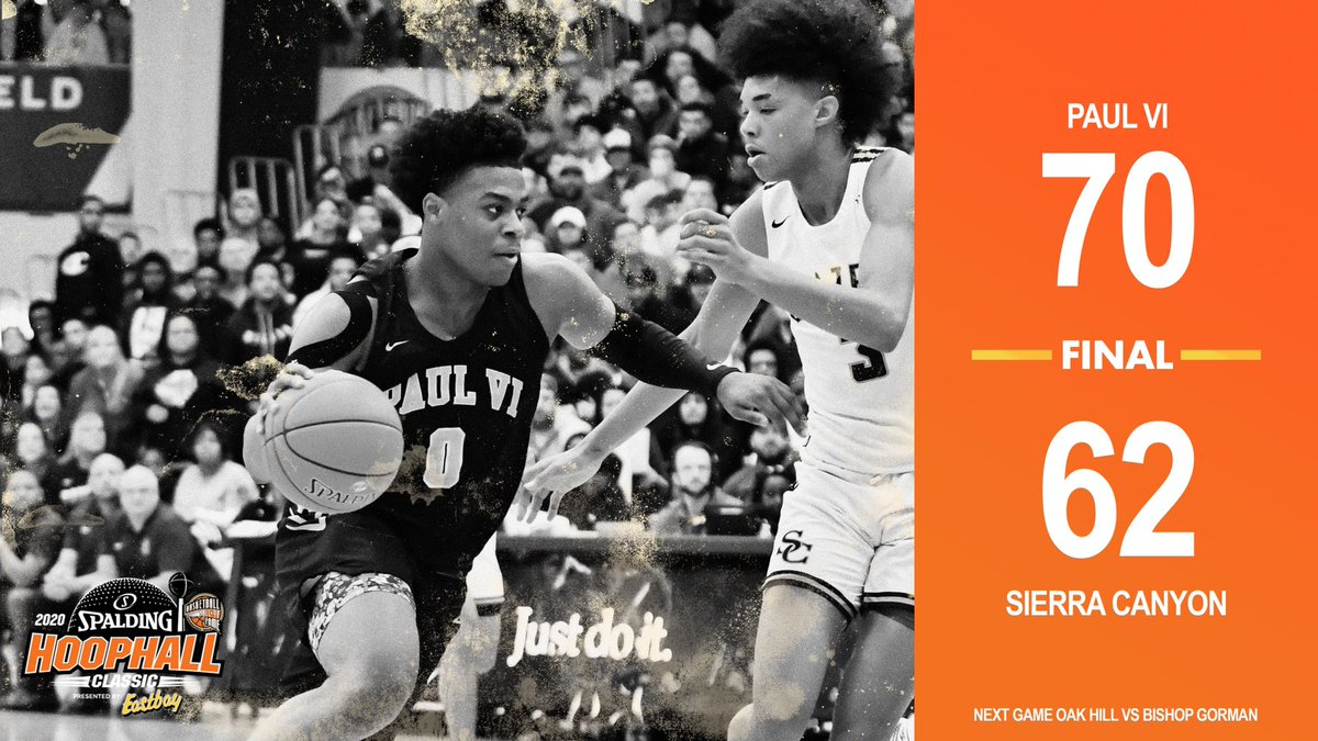 Game 27 Final at the 2020 @Spalding Hoophall Classic presented by @Eastbay. #HHClassic