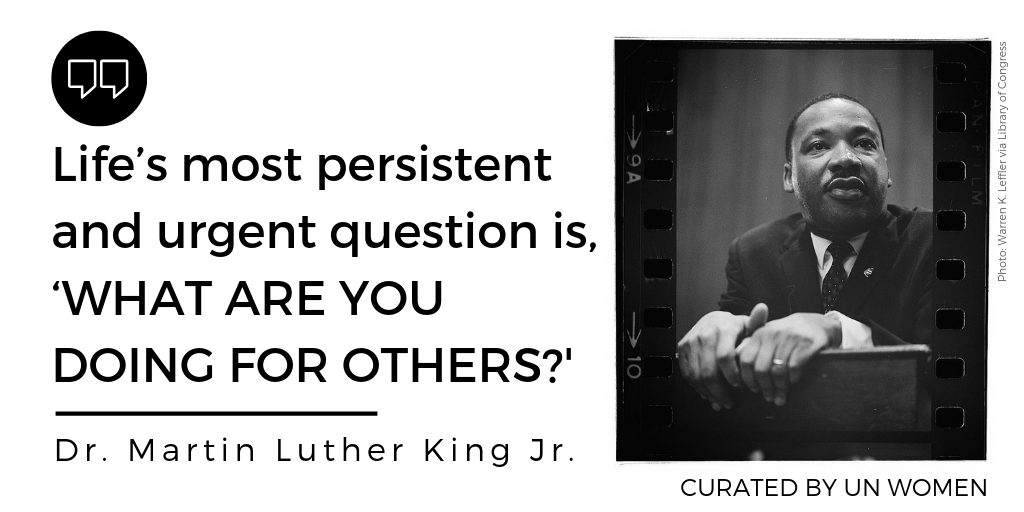 Whether it's volunteering, organizing or mobilizing, take #MLKDay as an opportunity to do good and serve others.