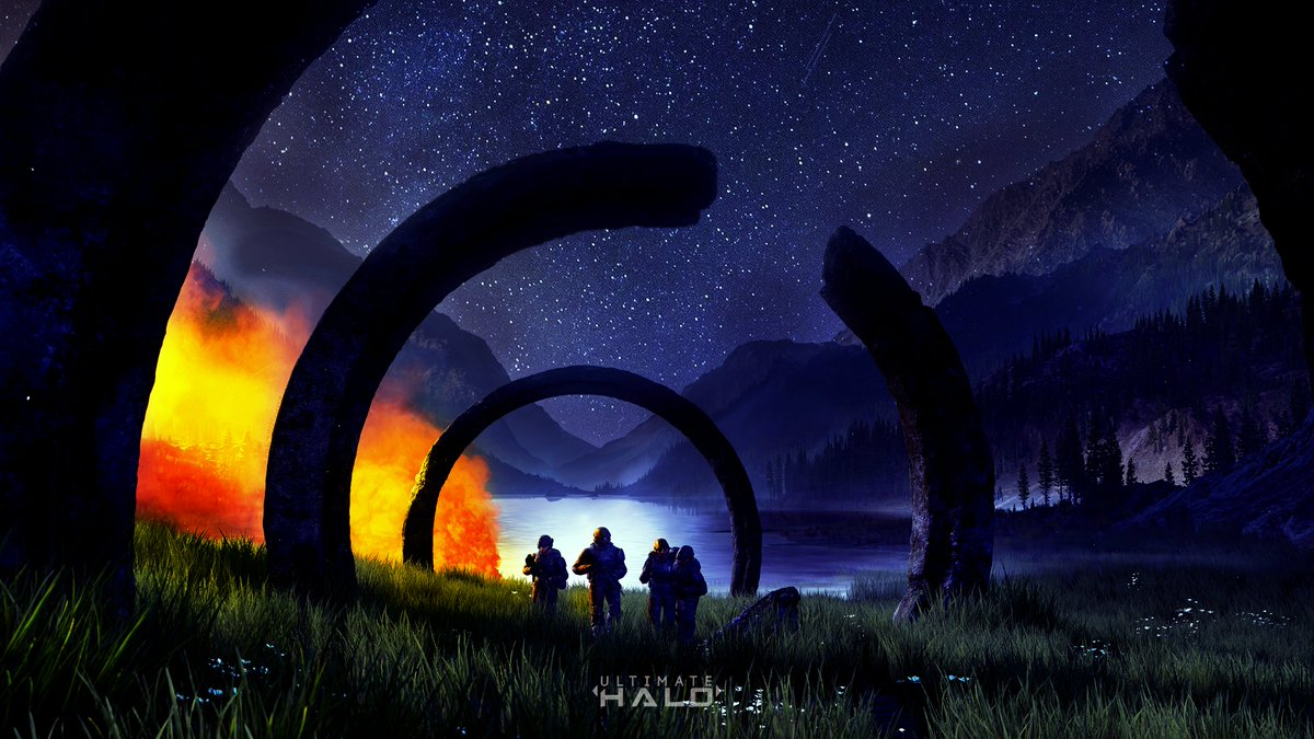 For those who wanted an image of the Nighttime version of my Infinite Photoshop.
