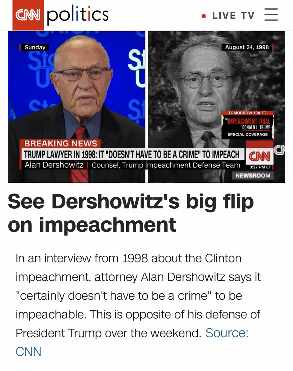 #AlanDershowitz #Alan #ImpeachmentTrial #ImpeachmentHoax #ImpeachedForLife #SenateImpeachmentTrial @SpeakerPelosi @RepJerryNadler @RepAdamSchiff @RepValDemings @RepJeffries @RepZoeLofgren @RepSylviaGarcia @TheDemCoalition @maddow @tribelaw @TheRickWilson
