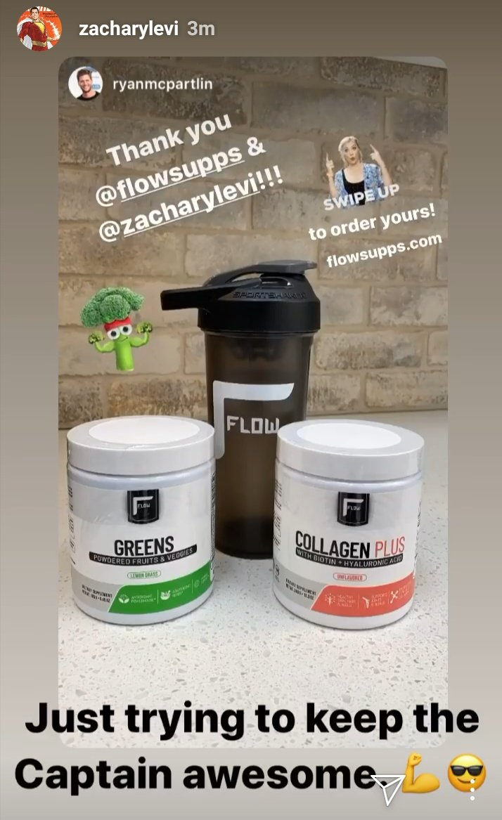 I love it when friends support one another.  #ZacharyLevi #RyanMcPartlin #FlowSupps #HealthyLiving <br>http://pic.twitter.com/m5czD1HDcq