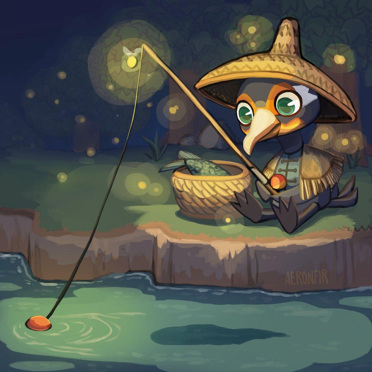 RT @Aeronfir: Cormorant fishing 🐟🌉  #AnimalCrossingPocketCamp #CharacterDesignChallenge https://t.co/pjuHFOh3t6