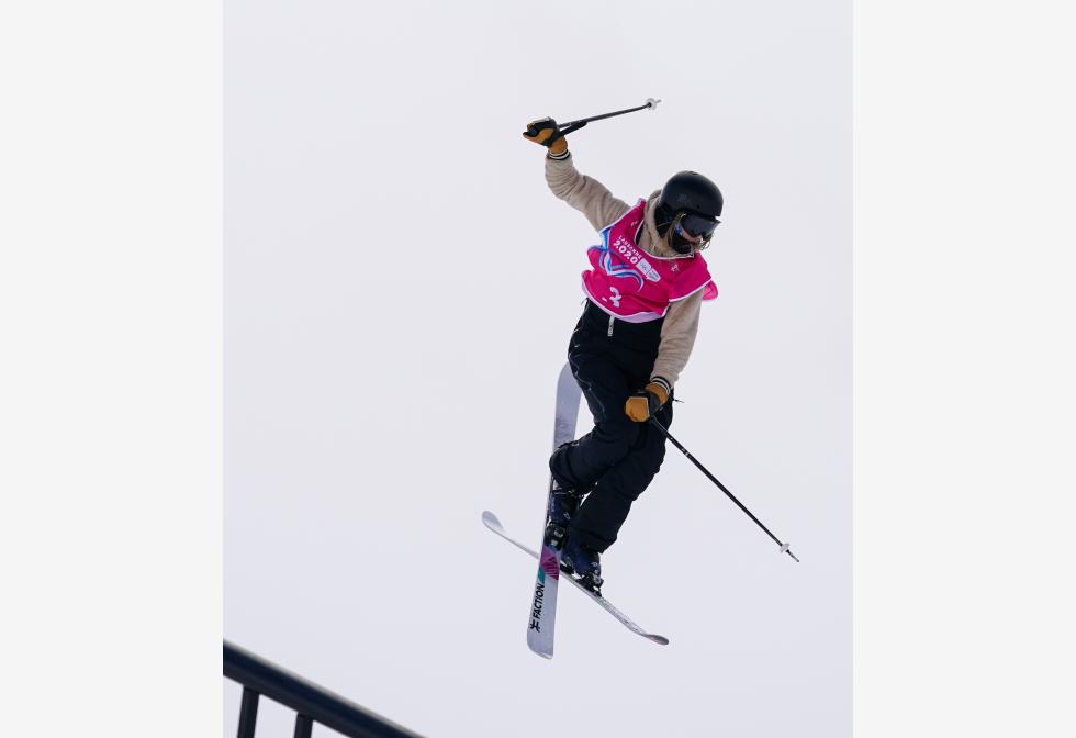 स्विट्जरलैंड के लेयसिन में तीसरे शीतकालीन युवा ओलंपिक खेलों में फ्रीस्टाइल स्कीइंग के महिला फ़्रीस्की स्कोपस्टी के फ़ाइनल के दौरान प्रतिस्पर्धा करते एस्टोनिया के सिल्डारू।pic.twitter.com/hiRb0SFZh8