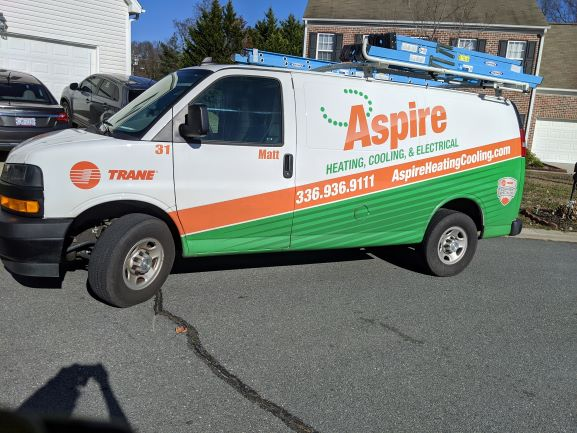 I went out for a run in my neighborhood and surrounding area and ran into one of our technicians!  I love it!  Aspire does have some great technicians! ~ Ashley Brooks, Social Media & Email Marketing  #HVAC #TrustTheExperts #Aspire #Heatingpic.twitter.com/p3LKBz7cQE