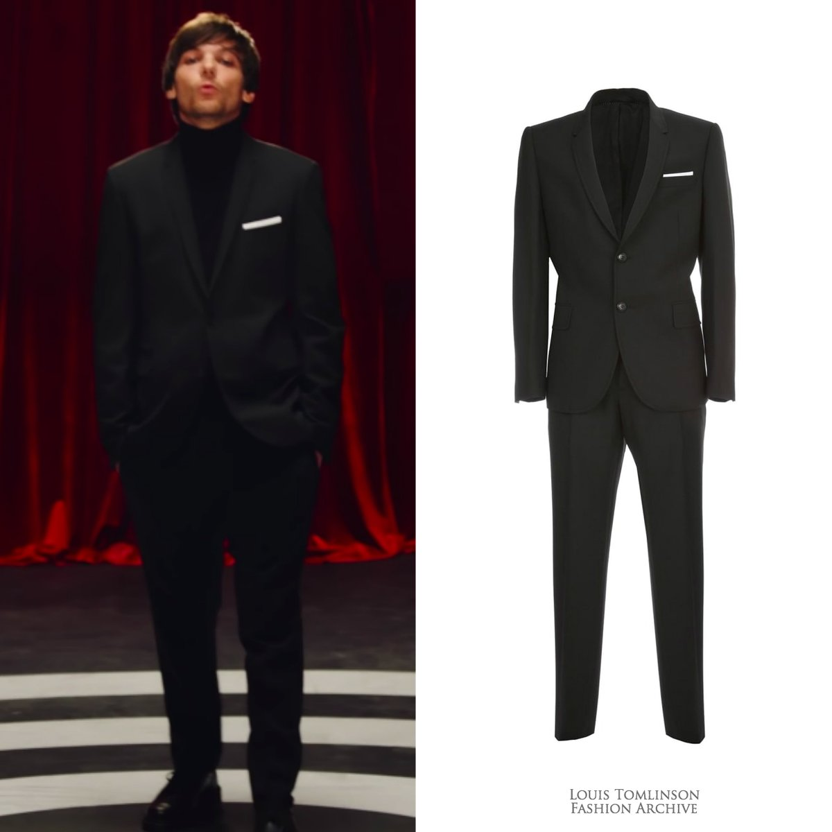 01/20/20 | Louis wore a @neilbarrett suit ($1,438) for the 'Walls' music video.   https:// shopstyle.it/l/bcSaY     <br>http://pic.twitter.com/2uLFYJSorw