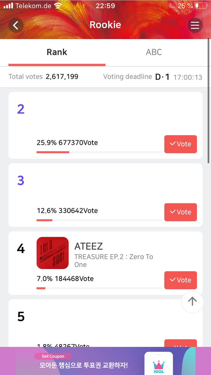 Okay I would really appreciate it if you guys would share this. We only have 17 hours left to vote for Ateez. Please guys take at least a tiny bit of time out of your day to vote for them that would mean a lot to atinys and Ateez. We can get our boys a freaking Roty award <br>http://pic.twitter.com/rdt6utxNaX
