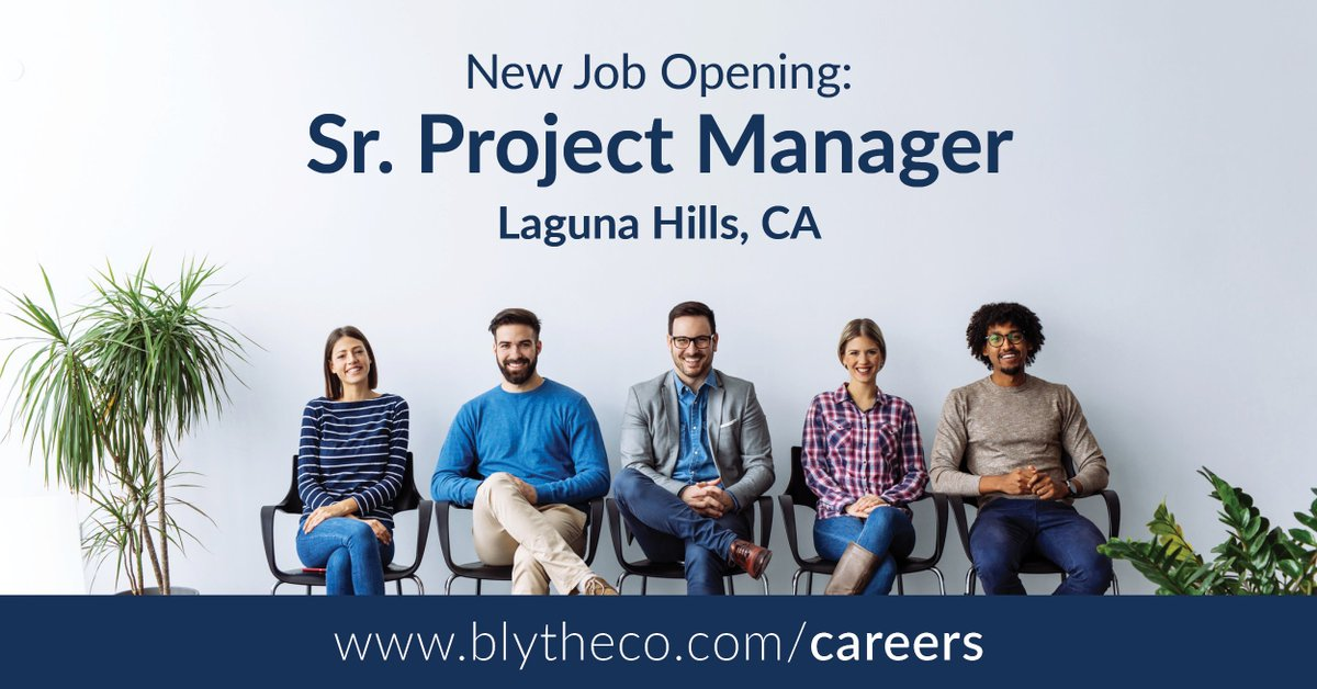 We are seeking a talented and driven project manager to join our growing team. If you are passionate about managing people, projects, and resources, we would love to connect with you. Apply today: http://ow.ly/UGaZ50y0jXY #Projectmanagement #Careers #WorkwithBlythecopic.twitter.com/RkYCVsYre9