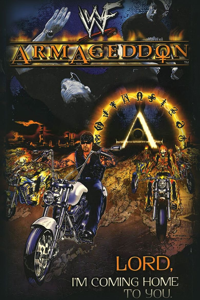 WWF Armageddon 2000! The main event featured a 6-man hell in a cell match with @RealKurtAngle VS @TripleH VS @TheREALRIKISHI VS @TheRock VS @steveaustinBSR VS #TheUndertaker! Available on The @WWENetwork!