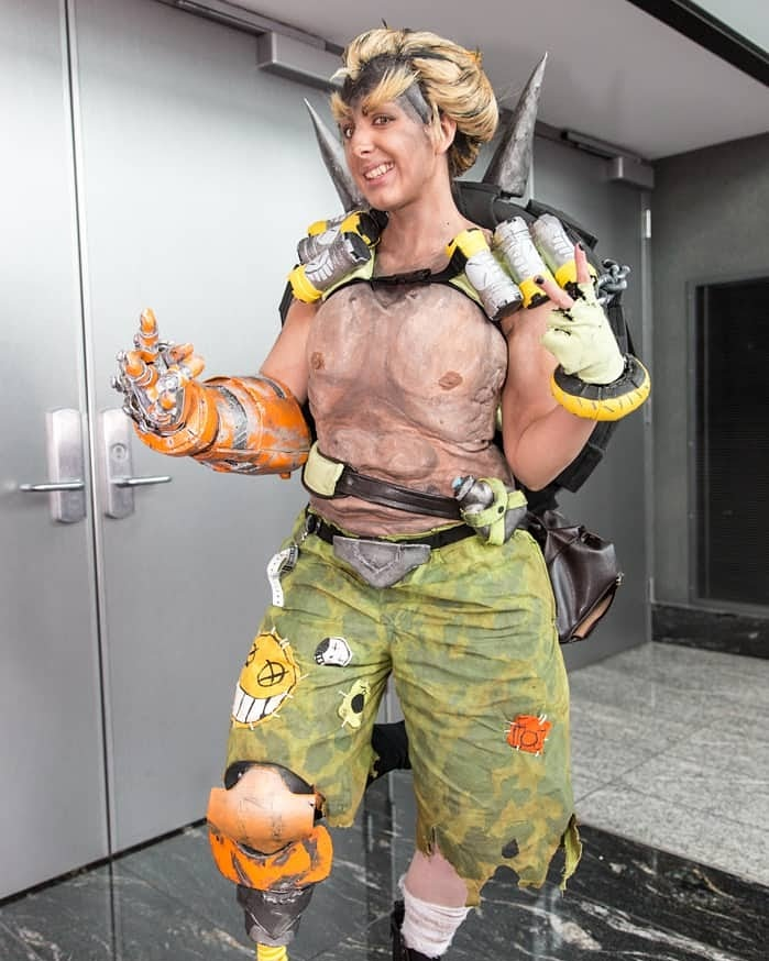 Quite a few years ago I cosplayed JR but never got full body photos. I grabbed this hallways photo of me from a website but no photog was listed. If you know who the photog is lemme know! #overwatch #junkrat #junkratcosplay #overwatchcosplay #cosplay