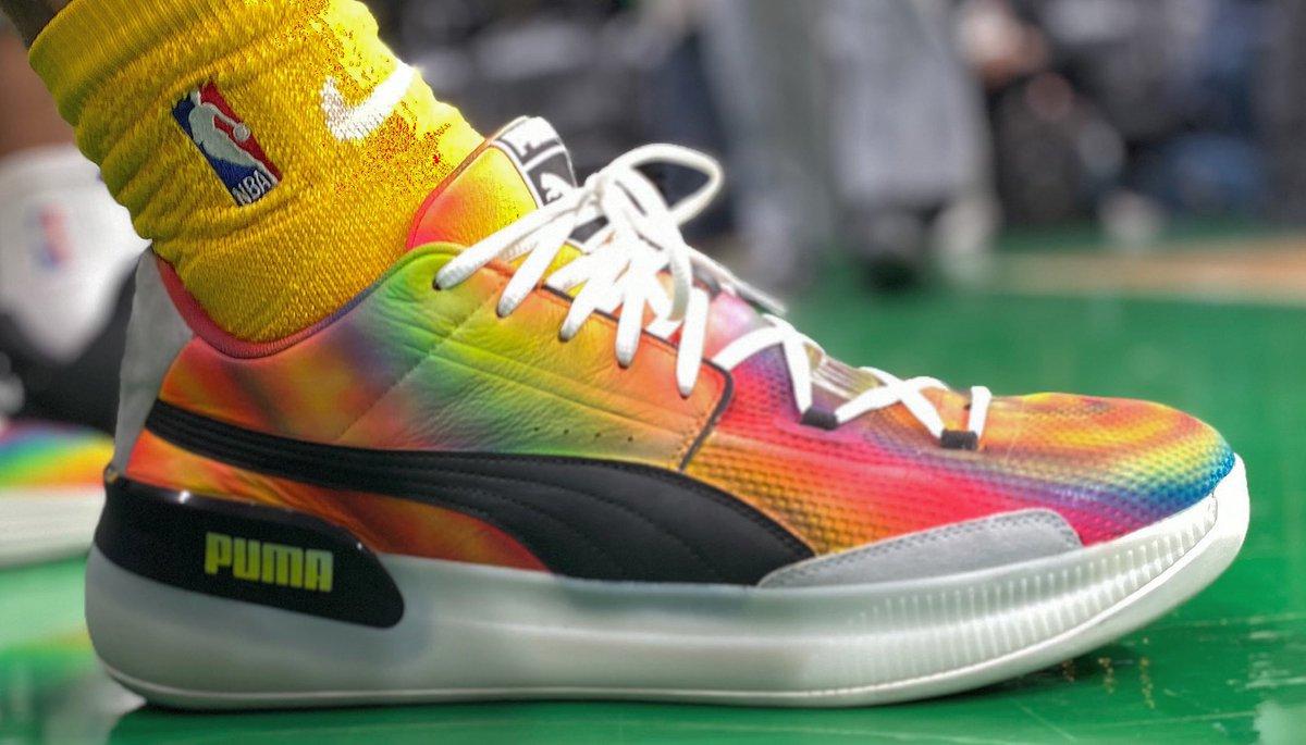 Kyle Kuzma's colorful PUMAs in Boston! #NBAKicks