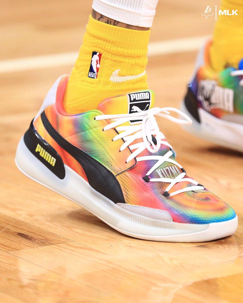 Tie dye vibes for Kuz tonight ⚡️ #LakersSneakerCam