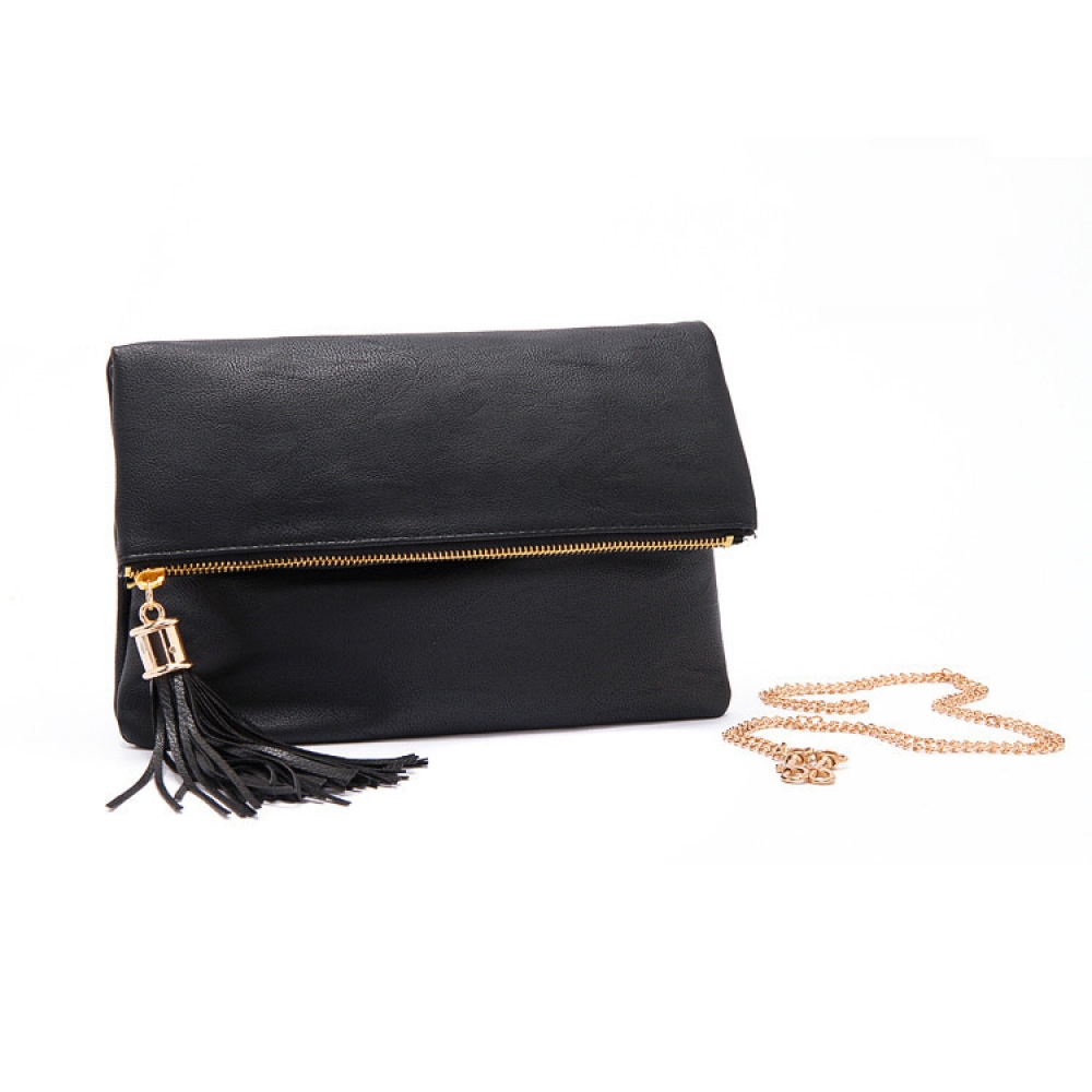 #chic #trendy Fashion Convenient Tasseled Women's Clutch Bag with Chain
