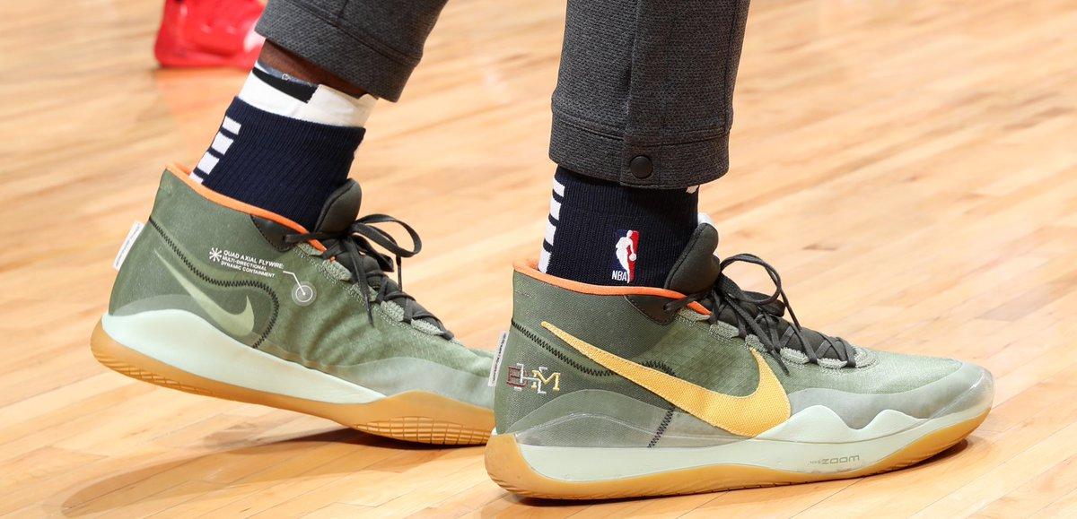 Jaren Jackson Jr. in the BHM Nike KD 12 at home! #NBAKicks